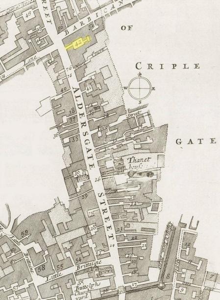 Aldersgate Street (c.1720)