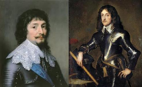 Portraits of the Palsgraves Frederick (left) & Charles Louis (right)