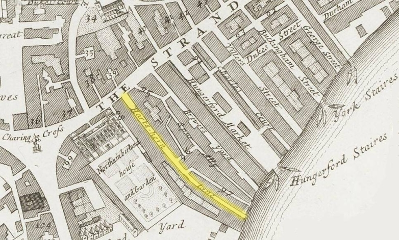 Hartshorne Lane, Westminster (1720)