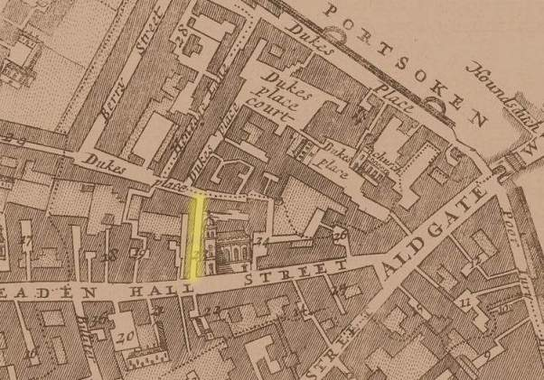 Creechurch Lane, Aldgate Ward, London (c.1720)