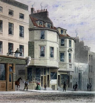 The Blue Boar's Head in King Street - A mid 19th century view of the inn post its re-building in the mid 18th century.