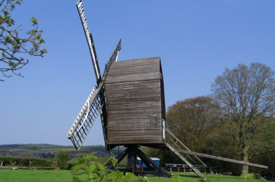 Open-trestle post type mill (Nutley Windmill, Sussex)