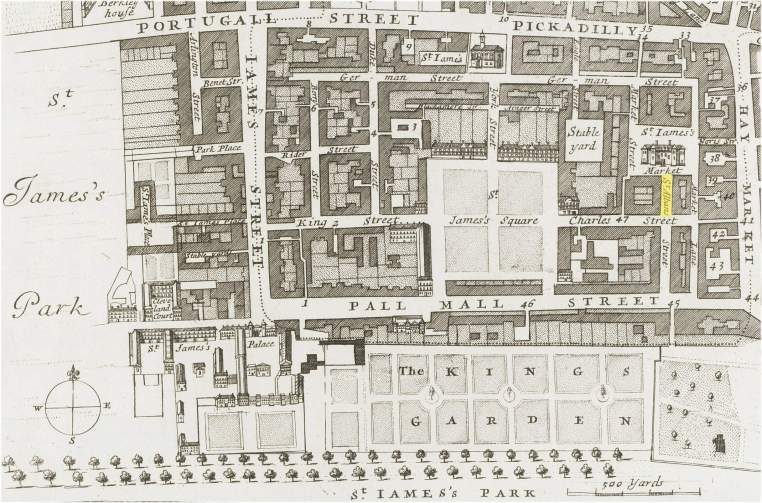 St. Alban's Street, Parish of St. James, Westminster (c.1720)