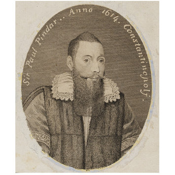 Engraved portrait of Sir Paul Pindar, by Thomas Trotter after an anonymous painting of 1614, England, 1794.