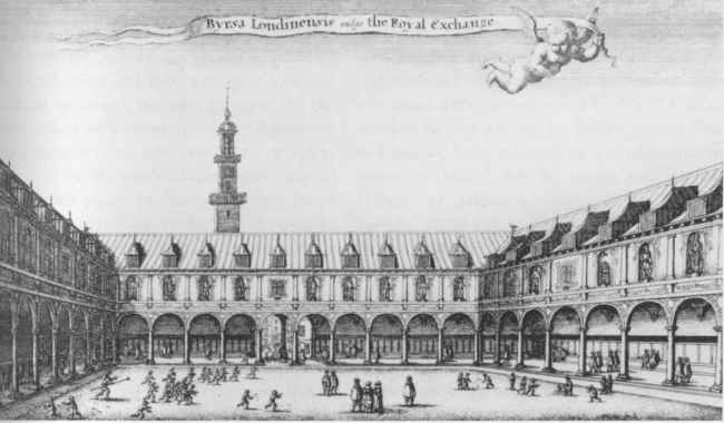 The Royal Exchange Building off Threadneedle Street London (c.1569)