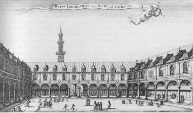 The Royal Exchange Building off Threadneedle Street London (c.1569)