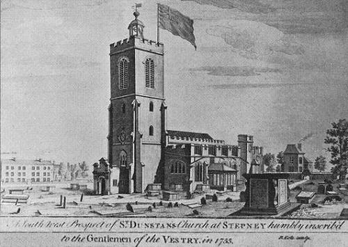 St. Dunstans and All Saints parish church, Stepney (1755)