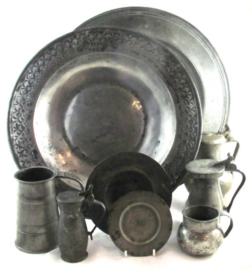 An assemblage of 17th Century English Pewter Ware