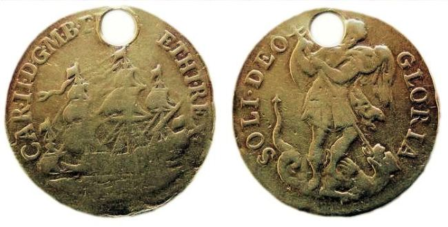 A golden Touch-Piece of Charles II