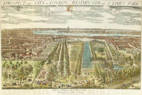 A view of Westminster by the Dutch engraver Jan Kip (c.1722).