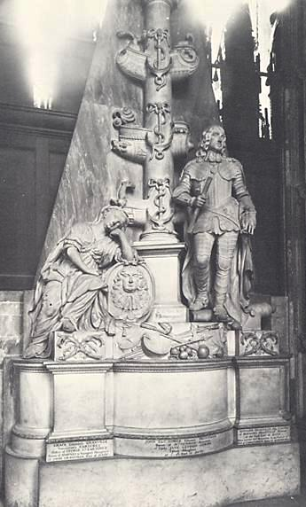 The memorial to George and Anne Monk plus their third son Nicholas (Westminster Abbey).