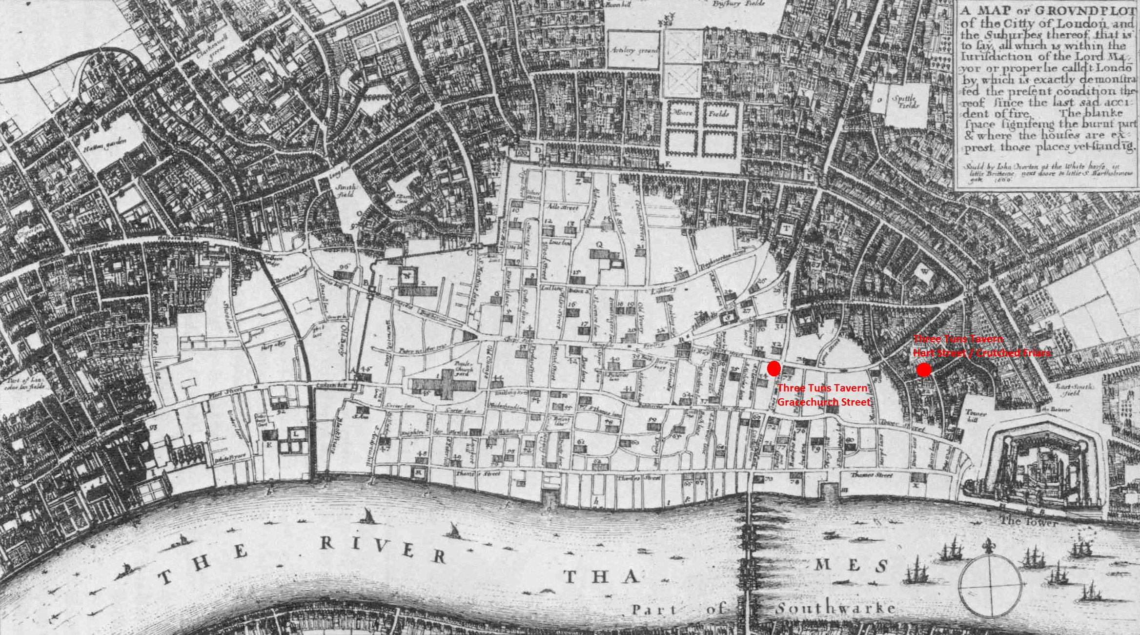 a map of london immediately after the great fire of september 1666 showing the extent of