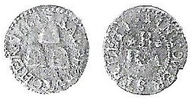A farthing trade token of Tower Street issued by R & A B in the name of the Three Sugar Loaves in 1664